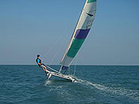 sailing a dart single handed